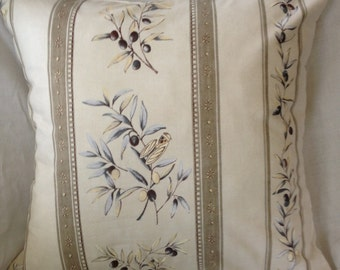 MUTED OLIVE SPRIGS w/ Cicadas from France Pillow Cover (1282)