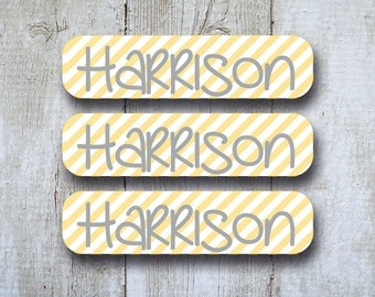Back to School Labels - Personalized Name Labels for School Supplies - Dishwasher safe, iron on, laundry care tag labels,  and 2 Bag Tags