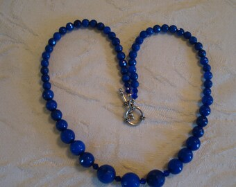 Blue Sapphire 22in beautiful one of a kind necklace