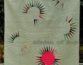 Pink Sun Rising Quilt Pattern - PDF Version