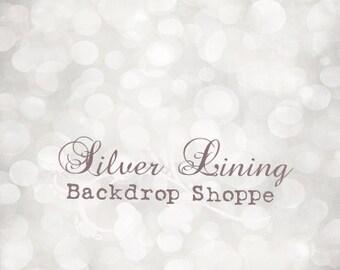 5'x7' Photography Backdrop Photo Prop Christmas / HOLIDAY Backdrop matte Vinyl / LIGHTS Shining White BOKEH