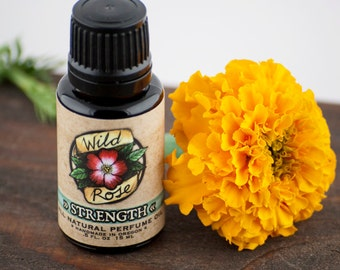 STRENGTH Natural Perfume Oil Trial Size Natural Fragrance - Floral Botanical 15ml // .5oz