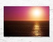 pink sunset photo fine art photography golden light water ocean sea landscape nature photograph warm orange