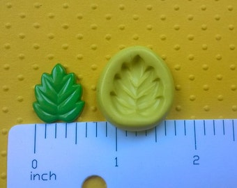 silicone LEAF mold FLEXIBLE mold heat safe food safe mold for fondant cake decorations cupcake toppers polymer clay plaster