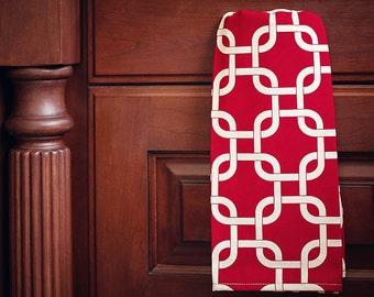 Red Gotcha Kitchen Hand Towel