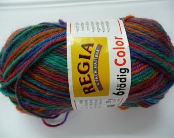 Regia 6-fadig color sock yarn 5033