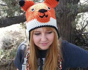 Custom made to order FOX hat - Newborn to Adult - Many color options