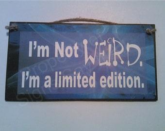 I'm Not WEIRD,