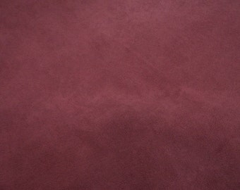 Dusty red, fat quarter, wide, faux suede fabric