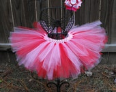 Red & Pink Tutu for Baby, Newborn, Infant, Toddler - Birthdays, Holidays, Special Events, Parties, Photography Prop