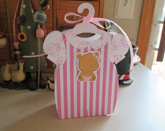 New Baby Girl Outfit Favor Box Set of 10