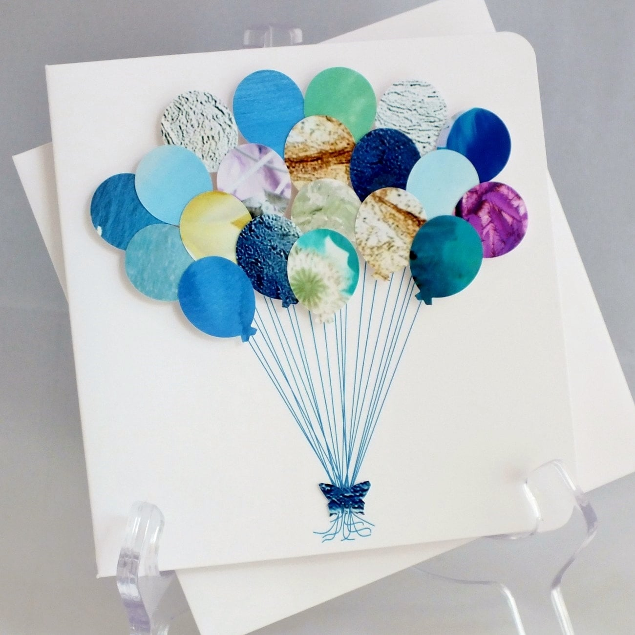 Handmade 3D 'Balloons' Card Happy Birthday Card By