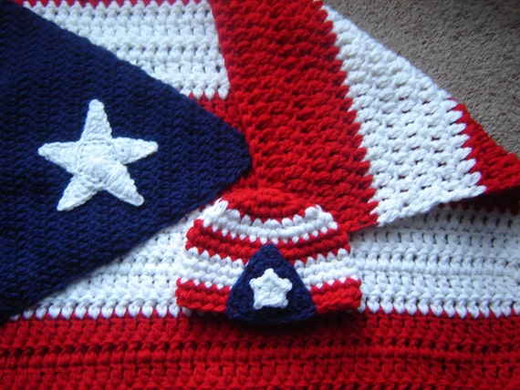 Puerto Rico Flag Baby Boy Baby Girl Crochet By