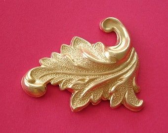 2-Row  Brass Stamping  Leaf Flourish Scroll Jeewelry Findings.