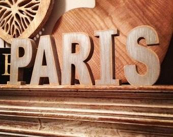 Wooden Letters - Free-standing - Ariel Font - 10cm - PARIS