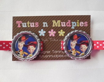 Toy Story Woody and Jessie - Bottle Cap Clip