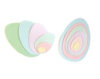 Felt shapes egg easter crafts die cut felt egg shape chrildrens crafts
