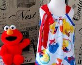 Sesame Street Dress, Sesame Street Birthday, Elmo Outfit, Elmo Toddler Dress, Elmo Birthday Dress, Pillowcase Dress, 1st Birthday Dress