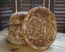 Henn Pottery BEAUTIFUL Hand sponged Bowls Set of 4