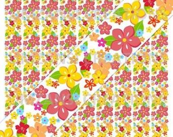 "DIY ""M2MG Aloha Sunshine Flowers"" Printable 7/8 Ribbon Iron On Transfer (JPeg Digital Image)"