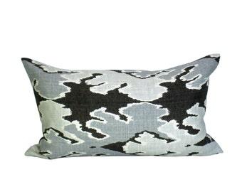 Bengal Bazaar lumbar pillow cover in Graphite