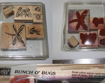 Bunch O Bugs Mini Rubber Stamp Set from Stampin Up (2000)