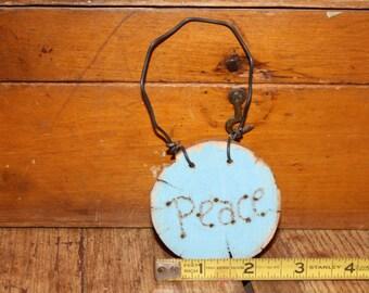 handmade shabby chic Christmas ornament