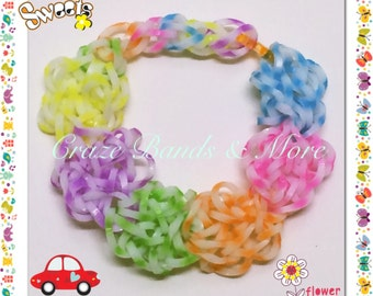 Snow Flake NEW Style High QUALITY Flower Loom Rubber bands fit any Loom bracelet Craft