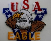 USA Victory Eagle - Hat Patch (cut-out) Iron Patch