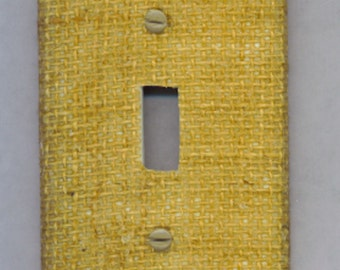 Rustic Chic BURLAP Light Switch Cover Single Toggle Natural
