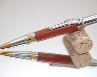Custom Order Classic Series Pen- Art Deco Design with Burmese Rosewood