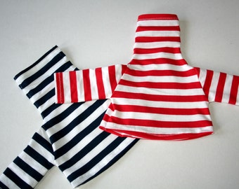 Red or Blue Striped sweater for little creatures