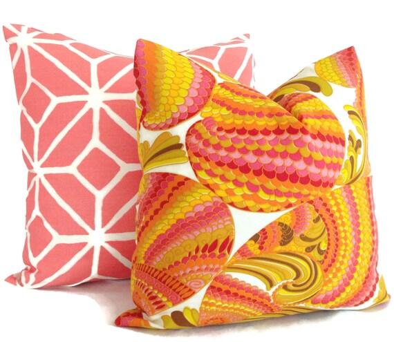 Trina Turk Pisces Punch  Indoor Outdoor Decorative Pillow Cover, Schumacher, 18x18, 20x20 or 22x22