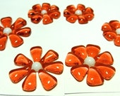 Glass Flowers For Mosaics, Jewelry, Magnets or other Embellishments 6 Flowers  (P203)