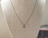 Tiny Honeybee Necklace, Layer Necklace, Delicate Necklace, Oxidized Brass, Minimalist Jewelry
