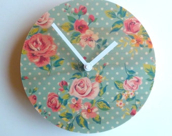 Objectify Vintage Print Wall Clock