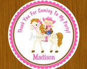 """2.25"""" Glossy Favor Stickers - Set Of 12 - Printed and Shipped"""