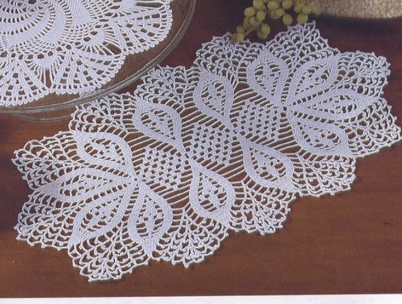 Oval Crochet Doily Table Decoration Center Piece Pattern
