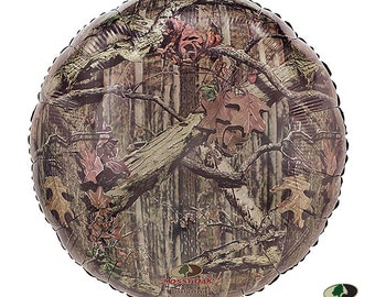 """1-18"""" Green Brown Camo Mossy Oak Balloon Party Decorations Hunting Camouflage"""