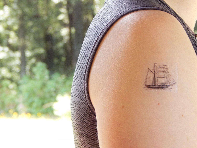 Ship Tattoo Small: Temporary Tattoo Ship Tattoo Pirate Ship Tattoo