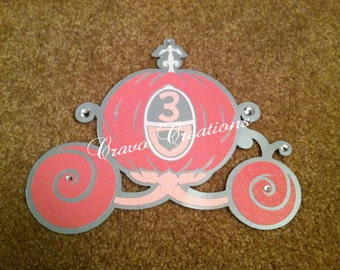 Princess Carriage Birthday Invitation