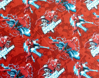 06425-  Springs Creative Products  - Marvel licensed Amazing Spiderman cotton fabric in red- 1/2 yard