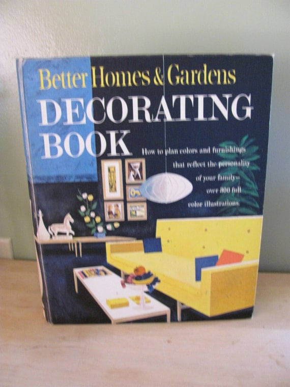 Better Homes And Gardens Decorating Book 1961 Mid Century