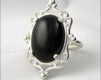 Onyx Cameo Ring