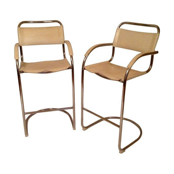 Fig House Vintage Bar Stools Breuer Style Cesca By Knoll