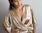 SALE 50 % !! Was 52 now 26 > Wedding Robe / Bridal Robe // Spa Robe / Beach Robe : Sunny Bridal Collection II