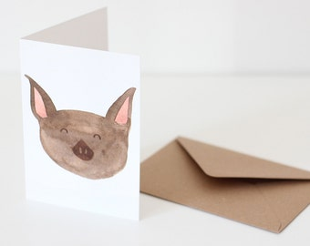 Vampire Bat Greeting Card