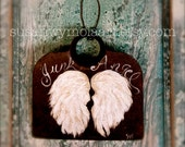 Junk Angel Art Angel Wings Rusty Hoe Original Art