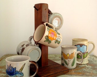 Set of 5 vintage mismatched coffee cups