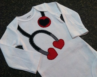 Baby Love Doctor Applique Onesie *MADE TO ORDER*